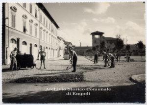 ASCE, Archivio Fotografico Empolese, VI/462, Lavori di costruzione di Piazza Gramsci, anni '30 del XX secolo